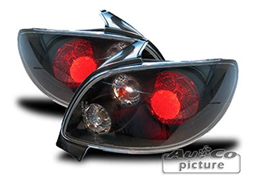 1 paar achterlichten P. 206 Limousine 1998 tot 2005 zwart PG110011