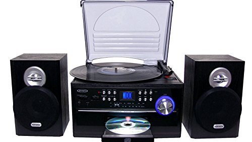 Jensen All-in-One Hi-Fi Stereo CD Player Turntable...