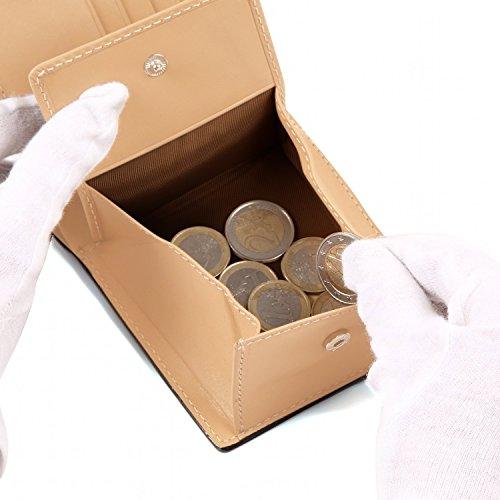 『[ラファエロ] ブライドルレザー 二つ折り財布 メンズ (チョコ)』の5枚目の画像
