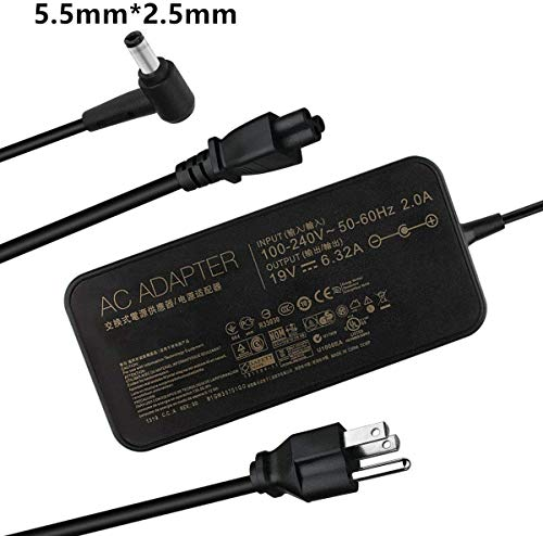New 120W Charger for Asus FX504 UX510UW N56J N56VM N56VZ N750 Laptop Adapter Power Supply Cord Cable