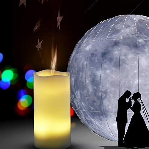 OSALADI LED Kerze Projektor Lampe Sternenhimmel Innenlicht Dekoratives Romantisches Nachtlicht mit Fernbedienung (Weihnachten, Warmweiß)