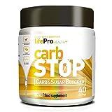 Life Pro Carb Stop bloqueador de carbohidratos y grasas a base de aislado de proteína de arroz y judía blanca – Inhibidor de hidratos de carbono y azúcar para contribuir en la pérdida de peso – 80 gr