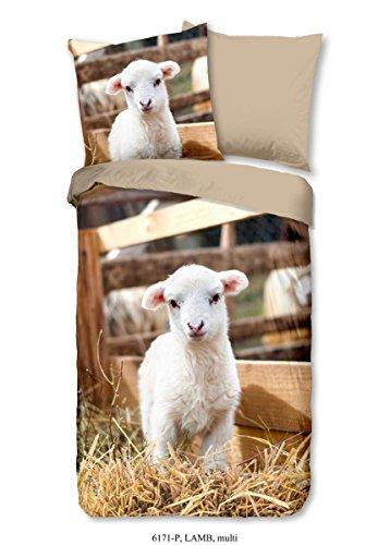 Good Morning Parure de lit 2 pièces Housse de couette 135 x 200 cm Taie d'oreiller 80 x 80 cm Lamb 6171.99.08 Multi