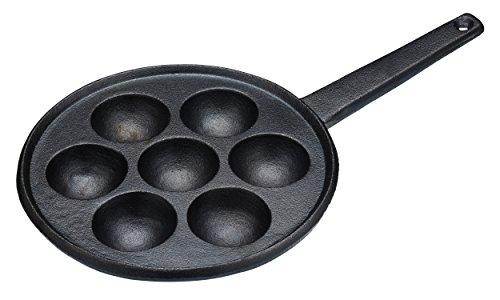 KitchenCraft gietijzeren pan, geschikt voor inductie, zwart, 20,5 cm