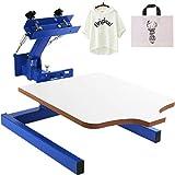VEVOR Screen Printer 1 Color 1 Station Silk Screen Printing Kit 55x45cm T-Shirt Screen Printing Machine Screenprint Press