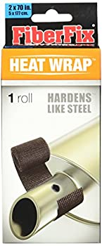 FiberFix Heat Wrap Hardens Like Steel - For Exhaust Pipes and High Temp Repairs 2   1 Roll