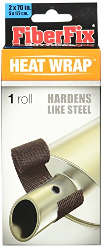 FiberFix Heat Wrap Hardens Like Steel - For Exhaust Pipes and High Temp Repairs, 2' (1 Roll)