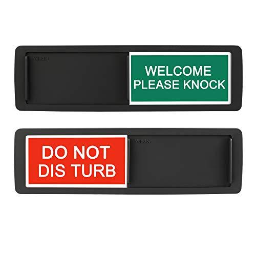 """Allinko: Schild zum Schieben mit """"Vacant - Occupied"""" Aufschrift, für die Toilette, für Zuhause, Büro, Konferenzraum, Hotel, Krankenhaus; zeigt an, ob Raum frei oder belegt ist Schwarz"""
