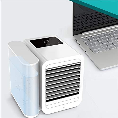 XXL 3 in1 Mini Luftkühler, Air Cooler, Mobile Klimaanlage, leiser Tischventilator, Stufenlos regelbare Geschwindigkeit, 1000ML Abnehmbarer Wassertank