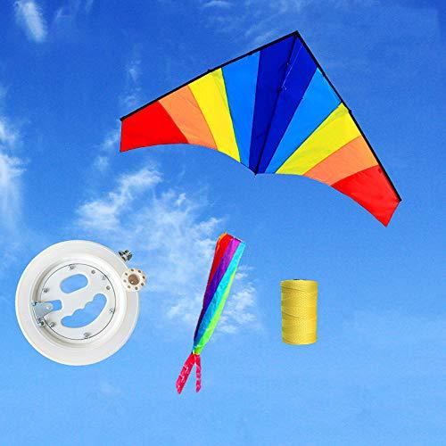 ZCFXGHH Speelgoed voor jongens en meisjes van 4 tot 10, buitenspelletjes, zomerspeelgoed, kleurrijke draken, cadeaus voor kinderen, stranddraak, 180 x 90 cm (70,86 x 35,43in), Kite+700m line