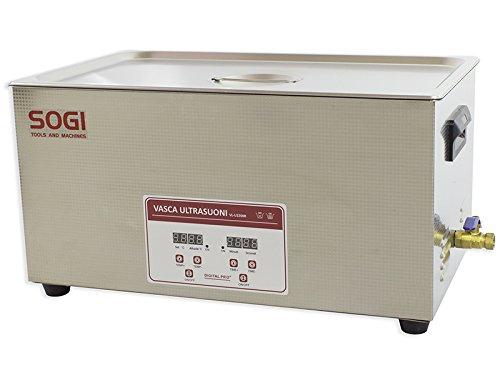 Vasca ad ultrasuoni in acciaio inox da 22 L pulitore ultrasuoni con riscaldamento da 500W e potenza ultrasuoni da 480W SOGI VL-U2200R
