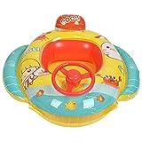Wosune Barco del Flotador del bebé, Flotador de la Piscina del bebé del Anillo de la Nadada de los niños para Disfruta de la diversión de Nadar para Disfrutar de la Playa tranquilamente