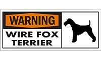 WARNING(Orange) WIRE FOX TERRIER ワイドマグネットサイン:ワイヤーフォックステリア Lサイズ
