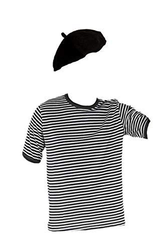 Marco Porta Disfraz de Francia con gorro, camisa (XL)