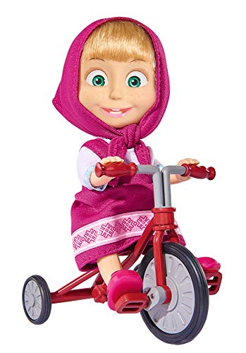 Muñeca Masha de 12cm de Masha y el Oso con triciclo (Simba