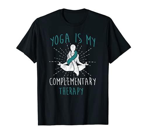 Yoga Cáncer Cerviical Cinta Blanca Verde Azulado Camiseta