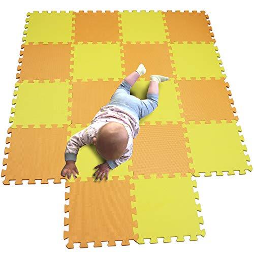 MQIAOHAM baby bambini bambino foam giochi gioco incastro mat per pezzi play puzzle schiuma tappetino tappeto Arancione Yellow 102105