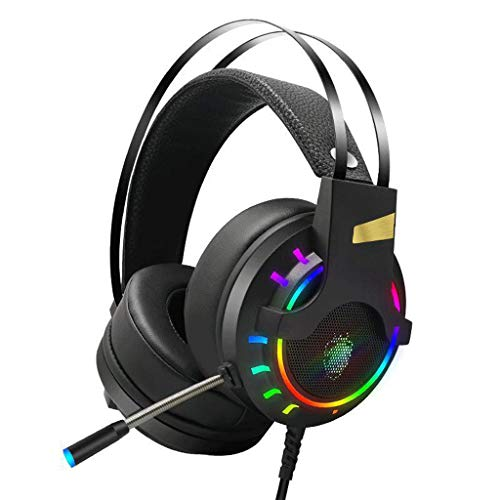 Gaming Headset,Head-Mounted Headset, Marquee Headphones 7.1 Headset Computer Headset with Microphone Stereo Surround Sound Gaming Headset