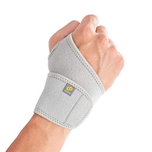BRACOO WS10 Handgelenkbandage - Handgelenkstütze für Sport und Alltag - Wrist Wrap für Damen und Herren - Grau