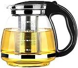 OMAORST 1500ml - Tropffreie Glas Teekanne mit Siebeinsatz - Edle Kanne für gemütlichen Tee Genuss - Hitzefeste Glaskanne mit Edelstahl Sieb - Hochwertiger Teebereiter für pures Geschmackserlebnis