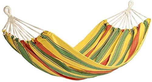 MCE Hamaca colgante de lona para jardín, muebles de columpio para exteriores, silla mecedora para colgar en el exterior, hamaca para adultos, portátil (color: A)