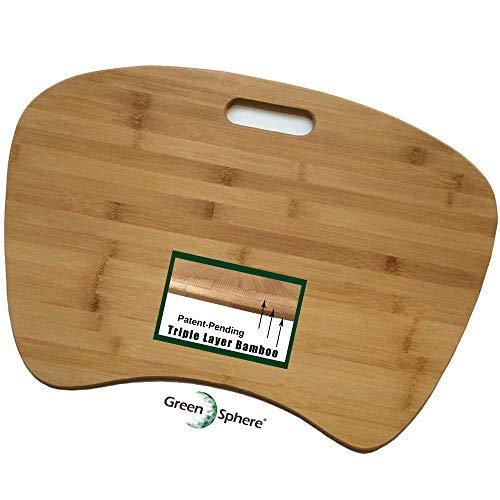 Bamboo Lap Desk for Laptop | Triple-Layer Bamboo Construction | Jumbo...