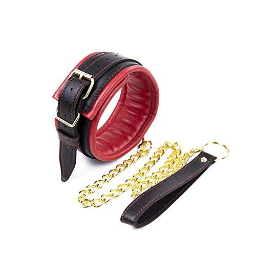 Damen Lederhalsband rot weiches Leder Traktionshalsband