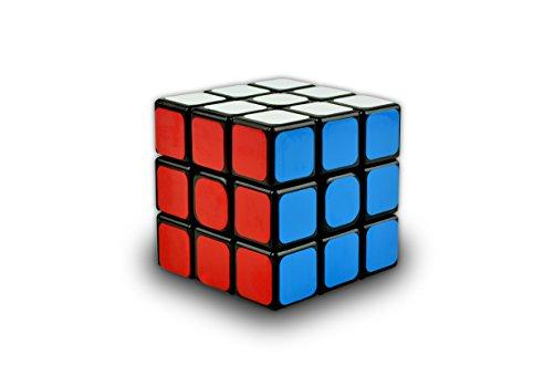 Helmecke & Hoffmann * Zauberwürfel Drehpuzzle | Zwei Farbvarianten wählbar | ca. 6 cm Kantenlänge (Schwarz)