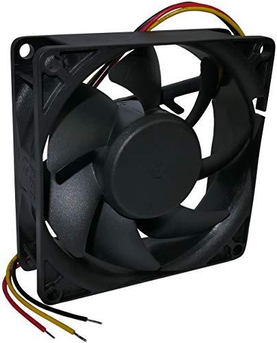 AERZETIX - Ventilador Axial de Refrigeración - para Caja de Ordenador PC - Vapo - Termoplástico - 12V DC - 80x80x25mm - 101.4m3/h - 4800rpm - 0.31A - 3.72W - 44.7dBA - 3 cables - C46959
