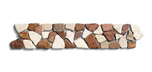 BO-558 Marmor Bordüre Bruchstein Mosaikfliesen Naturstein Badezimmer Fliesen Lager Verkauf Stein-Mosaik Herne NRW
