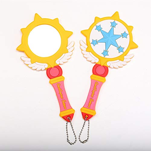 2 stks 10 Stijlen Sailor Maan Wand stok staaf luna Anime Card Captor Sakura cardcaptor sakura spiegel toverstokken ketting Wand
