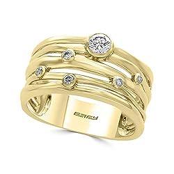 14K YELLOW GOLD DIAMOND RING WP0AP15DD4