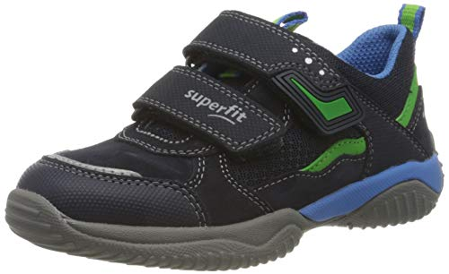 Superfit Jungen STORM Sneaker, BLAU/GRÜN 8010, 37 EU