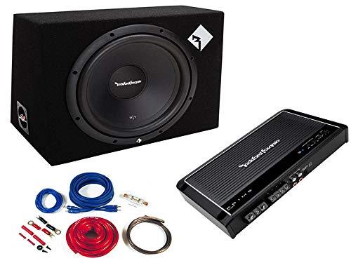 Rockford Fosgate Komplettset Basspaket Verstärker Subwoofer Kabelset 400 Watt
