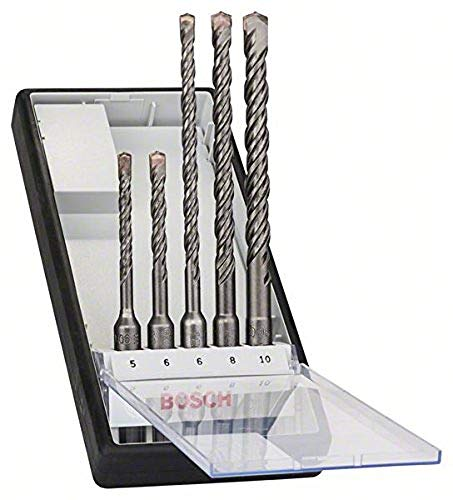 Bosch Professional 5-Piece SDS Plus-5 Robust Line Hammer Drill Bit Set (for Concrete, Accessories for Rotary Hammers)