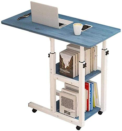 Tabla dormitorio cama del escritorio mesa portátil - plegable escritorio de la computadora escritorio de la computadora de altura ajustable escritorio del ordenador portátil de la compra-80x40cm_Blue