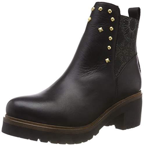 Desigual Damen Shoes_Biker BLACKSTUDS Stiefeletten, Schwarz (Negro 2000), 36 EU