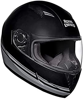 Royal Enfield Matt Black & Grey Full Face Helmet Size (S)56 CM (RRGHEA000096)