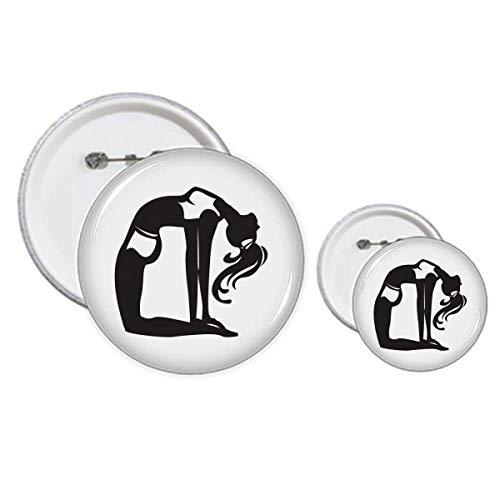 Graceful Yoga Girl Estiramiento Mantener Saludable Pin Insignia Botón Diseño Kit Artesanía