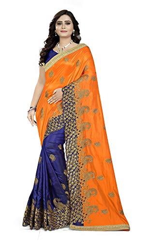 Arriva Fab silk with blouse piece Saree (Riva602_607_$p_ Blue_ Free Size)