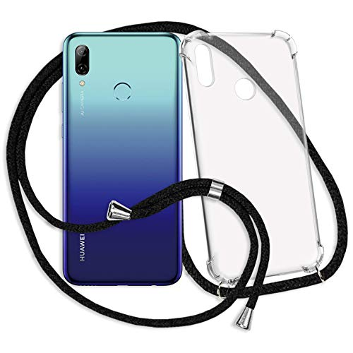 mtb more energy® Handykette kompatibel mit Huawei P smart 2019 / Honor 10 Lite (6.21'') - schwarz - Smartphone Hülle zum Umhängen - Anti Shock Strong TPU Case