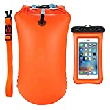 Photo Gallery lekia 20l boa galleggiante per nuoto, altamente visibile swim buoy con custodia impermeabile ipx8 per cellulare, gonfiabile di sicurezza per nuoto in acque aperte, nuotatori, triatleti, snorkeling