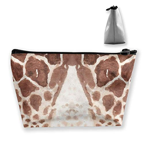 Trapezoid Makeup Pouch Storage Holder Giraffe Print Womens Travel Case Cosmetic Makeup Pouch