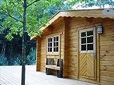 メリB(ログ厚75mm)事務所、アトリエ、簡易店舗に最適の6坪タイプのログハウス