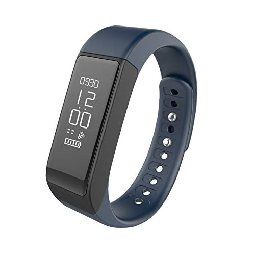 YONGLI Braccialetto da Polso Intelligente Bluetooth 4.0 PASSETROMET Sleep Monitor Alarm Alarm Nero (Color : Blue)