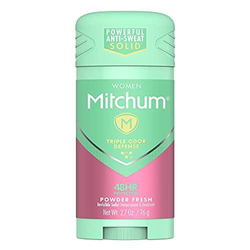 Mitchum Women Advanced Anti-Perspirant & Deodorant Invisible Solid Powder Fresh - 2.7 oz, Pack of 5