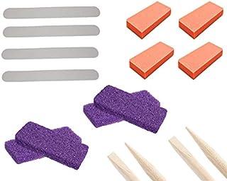 PrettyClaw | 16 pieces Nail Care Kit Nail Buffer Nail File Callus Pumice Bar Wooden Cuticle Pusher Disposable Mini Nail Ma...