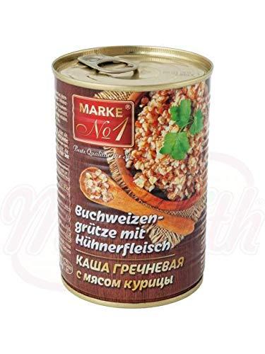 Buchweizengrütze mit Hühnerfleisch 400g Каша гречневая с мясом курицы