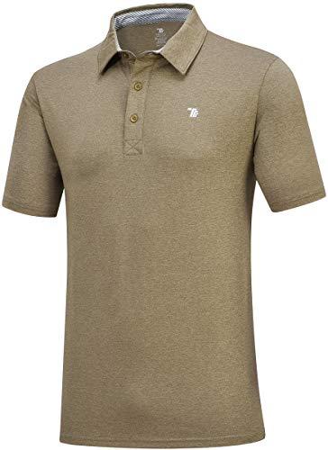 JINSHI Hombre Polo de Trabajo Camisa Formal Verde del ejército Medium
