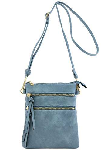 Functional Multi Pocket Crossbody Bag (Blue Grey)